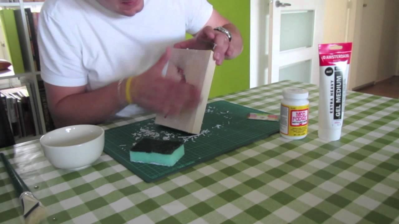 Zelf een foto op hout maken - YouTube