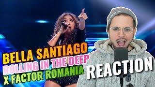 Bella Santiago - KZ Tandingan's Rolling in the deep | X Factor Romania | REACTION