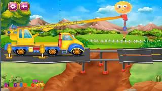 Ô tô hoạt hình hay nhất. Xe cần cẩu, xe trộn bê tông. Video hoạt hình hay cho bé xem
