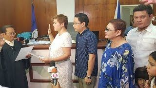 WATCH: Oath-taking of Mayor Sara Duterte Carpio in Davao City