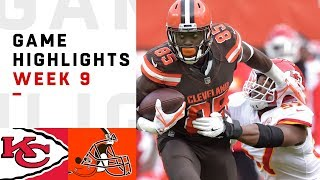 Chiefs vs. Browns Week 9 Highlights | NFL 2018