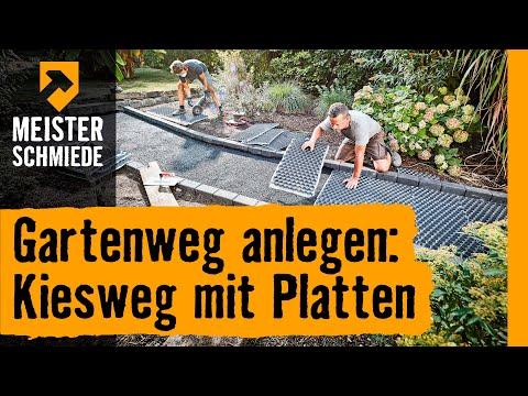 Gartenweg Anlegen: Kiesweg Mit Platten | HORNBACH Meisterschmiede