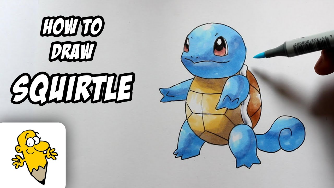 How to Draw Pokemon Dragoart How to Draw Squirtle Pokemon