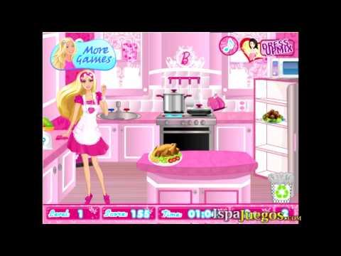 Barbie party cleanup juego de barbie youtube - Limpiar la casa de barbie ...