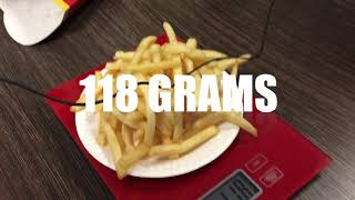 Is there a difference between Medium and Large Fries at fast food outlets?