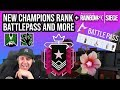 NEW CHAMPIONS RANK IN SIEGE! + BATTLE PASS AND MORE