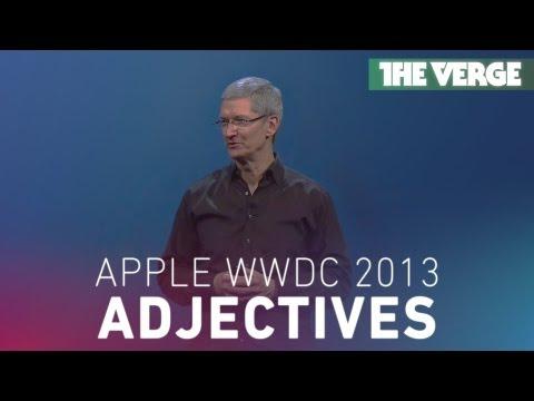 Apple's WWDC 2013 keynote: a symphony of adjectives