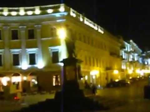 Center of Odessa Night, Monument DYUK, port,