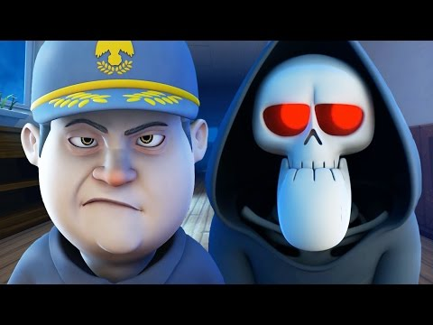 Funny Animated Cartoon | Spookiz Skeleton Teacher Meets Janitor Reaper Sam 스푸키즈 Cartoon for Children