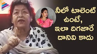 Bollywood Dancer Saroj Khan Slams Sri Reddy | Saroj Khan Defends Casting Couch in Film Industry