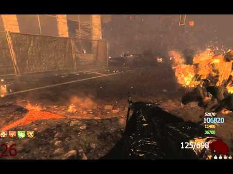 Call of duty: Black Ops 2 Зомби-режим. Очередной забег в городе. 4 игрока, плохой пинг.