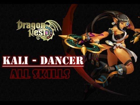Dragon Nest - Kali: [Dancer]. [Blade Dancer] and [Spirit Dancer] skills