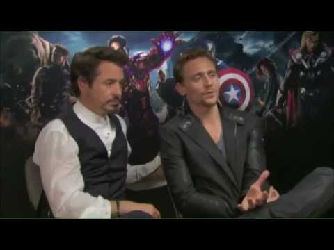Tom Hiddleston and Robert Downey Jr funny interview