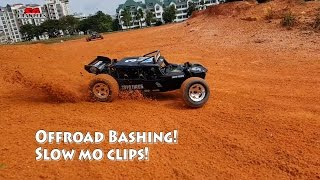 Slowmo RC offroad rally cars buggies bashing trucking adventures!