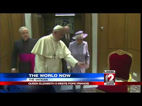 Queen Elizabeth and Pope Francis meet for first time
