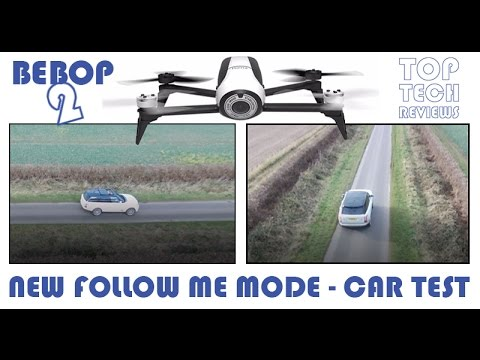 Parrot Bebop 2 Follow me GPS and visual tracking in a CAR