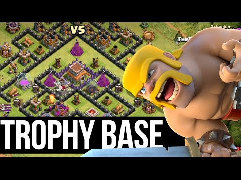 Clash of Clans   TROPHY BASE    DEFEND THE 2 STAR    EPIC TH8 BASE DESIGN