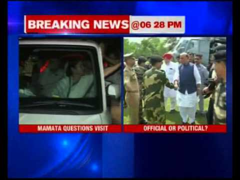 Mamata Banerjee questions Rajnath Singh's India-Bangladesh border visit