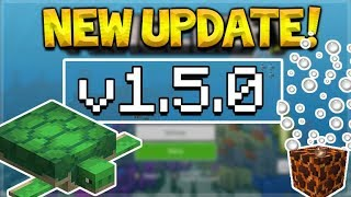 NEW MCPE 1.5.0 UPDATE! Minecraft Pocket Edition - Aquatic Phase 2 Released ALL Versions!