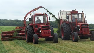 Volvo BM 810 Turbo in the field w/ Taarup 108 Super hi-tech Forage Harvester | DK Agriculture