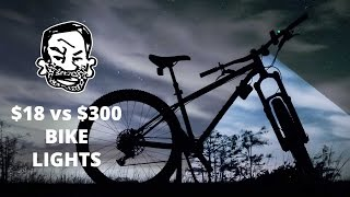 MTB Lights for Night Riding - $300 vs $18