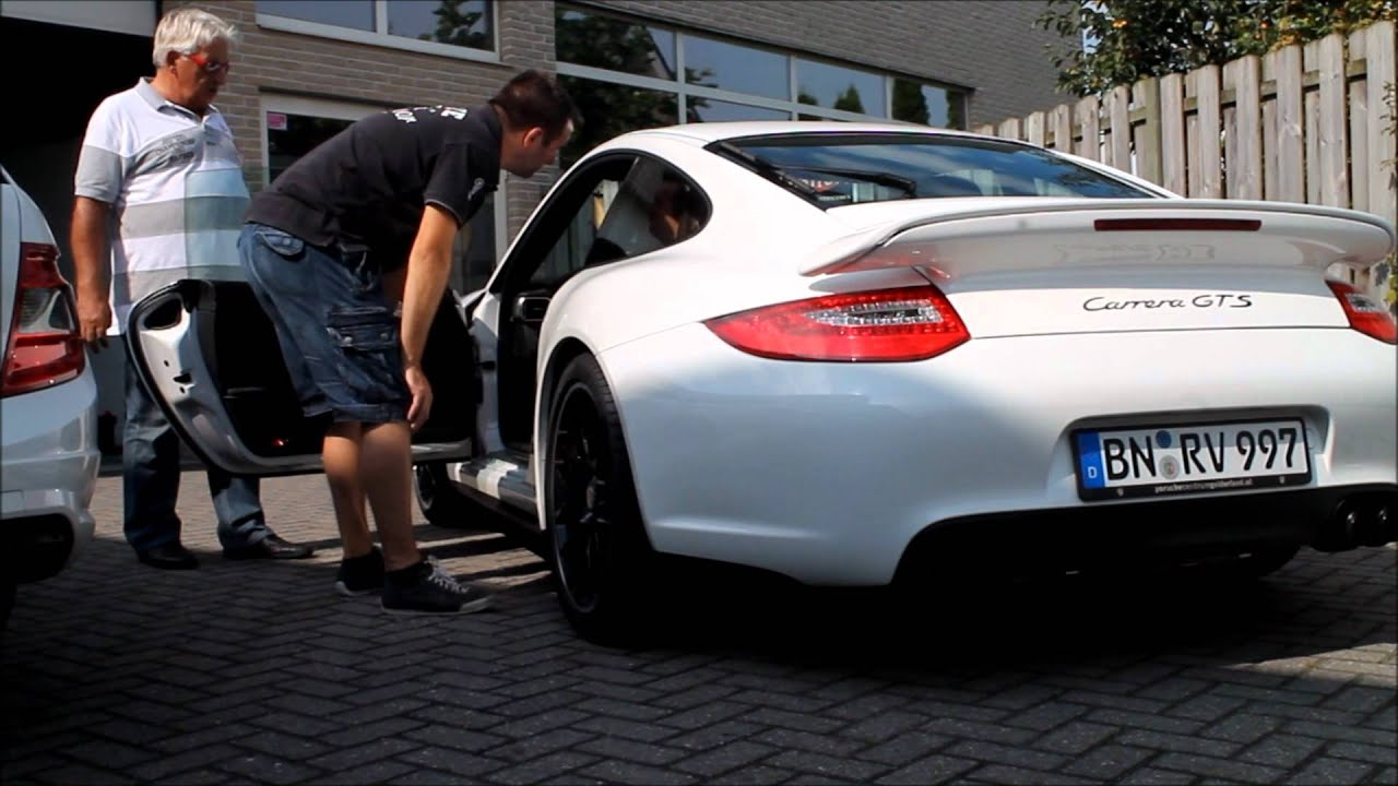 porsche carrera gts turbo spoiler breda youtube. Black Bedroom Furniture Sets. Home Design Ideas