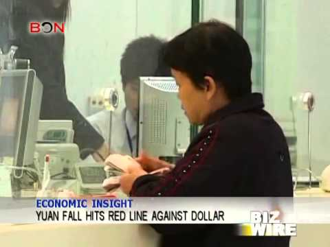 Yuan fall hits red line against dollar - Biz Wire - March 20,2014 - BONTV China