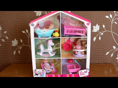 Baby Dolls Bath Time  Bed time feeding time Play time Lots to love Babies House & Little girl