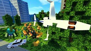 КРУШЕНИЕ САМОЛЁТА! БАЗА ВОЕННЫХ! ЗОМБИ АПОКАЛИПСИС В МАЙНКРАФТ! - (Minecraft - Сериал)
