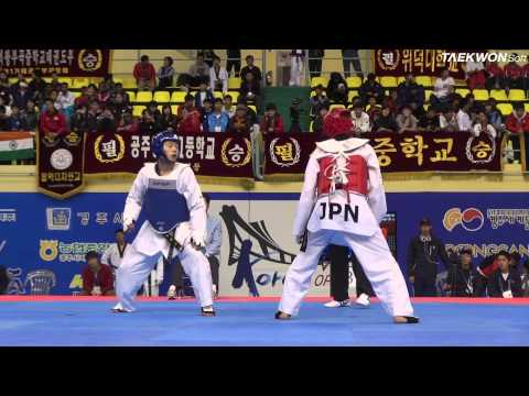 7th Korea Open Taekwondo Championships Final Male Senior 1 -58kg Kang Myung Je Vs Yamada Yuma video