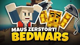 STURMWAFFEL ZERSTÖRT SEINE MAUS! ★ Minecraft: BEDWARS | Herr Bergmann