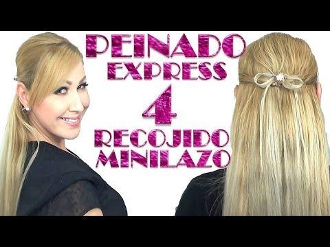 semirecogido en forma de LAZO O MOñO peinado express 4
