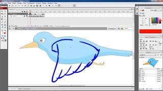Adobe Flash Animation tutorial for beginners:Flying bird animation