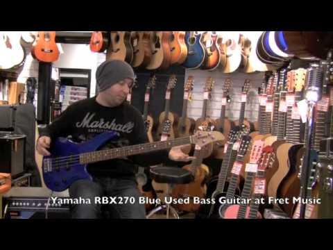 Yamaha Blue Bass Guitar Yamaha Rbx270 Blue Used Bass