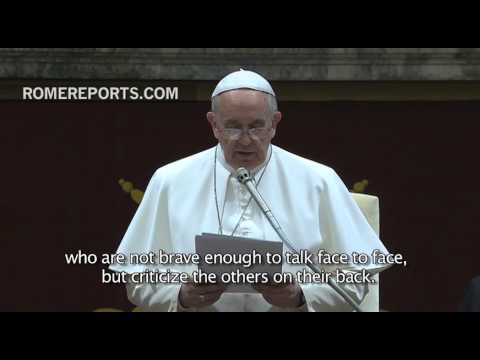 """Pope Francis explains the """"15 sicknesses"""" members of the Curia may face"""