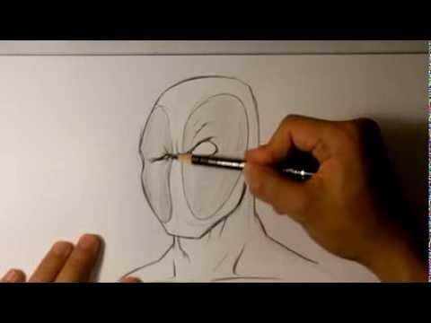 Видео как нарисовать Дедпула карандашом поэтапно