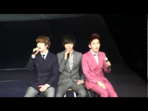 Smtown Live Ny Super Junior (k.r.y.) Sorry Sorry Answer [111023] [fancam] video