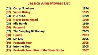 Jessica Alba Movies List