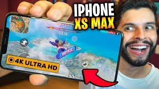 MUDOU TUDO?!? JOGUEI FREE FIRE NO NOVO IPHONE XS MAX!!!