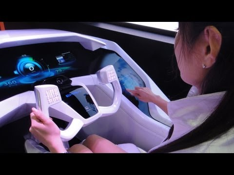 Futuristic Car Interface Tech - Mitsubishi EMIRAI #DigInfo