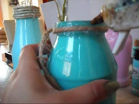 Como reciclar frascos de vidrio (decoracion para el hogar)