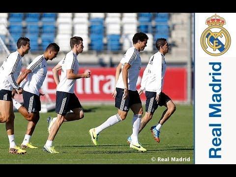 El Real Madrid completó la última sesión previa al partido ante el Málaga