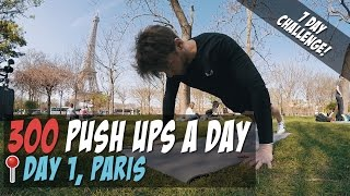 [Day1] 300 Push Ups a Day for 7 Days - [Men's Health 300 Pushups Challenge 2017] See What Happens?