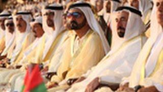 محمد بن راشد والحكام وأولياء العهود وملك المغرب يشهدون حفل سعدك يا وطن