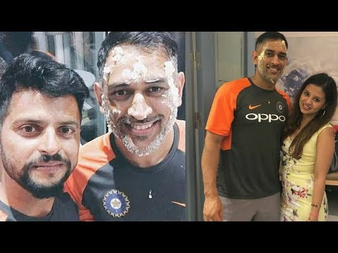 Dhoni Birthday Celebration With Indian Cricket Team!!!