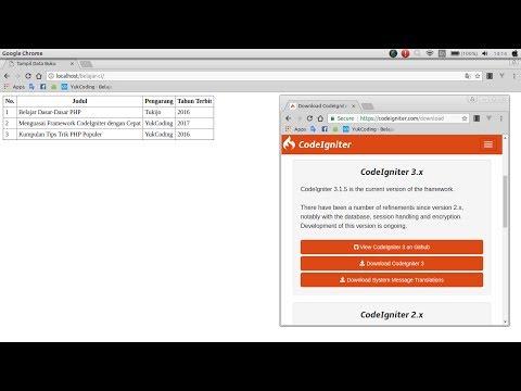 Membuat Tampil Data dengan CodeIgniter dan MariaDB (2)