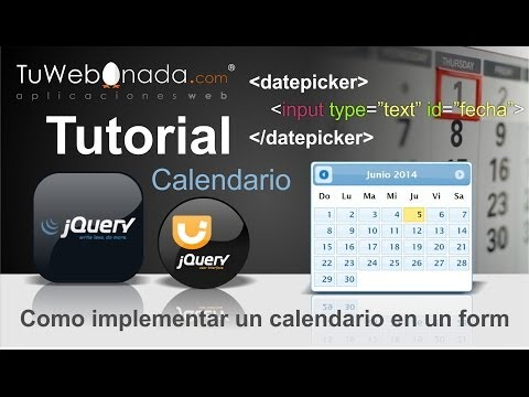 Aprende a implementar un calendario con jQuery en un formulario