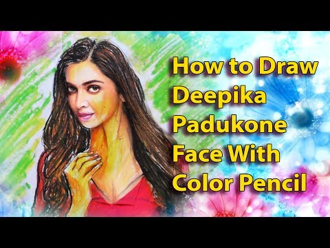 How to Drawing Deepika Padukone Face || Indian Actress Deepika Padukone || deepika padukone hot
