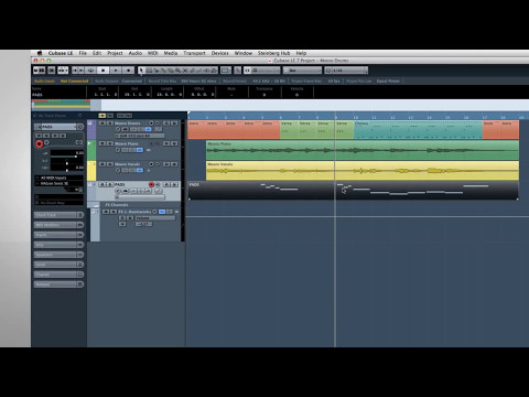 Cubase LE AI Elements 7 - Quick Start Video Tutorials - 4 - Basic MIDI
