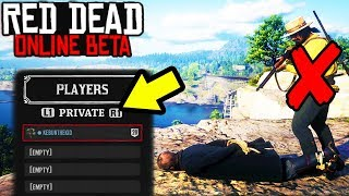 HOW TO STOP GRIEFERS in Red Dead Online! Join A PRIVATE SESSION in Red Dead Redemption 2! Best Tips!